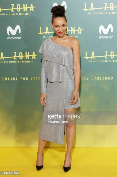 Actress Montse Pla attends the 'La Zona' premiere at Capitol cinema on October 25 2017 in Madrid Spain