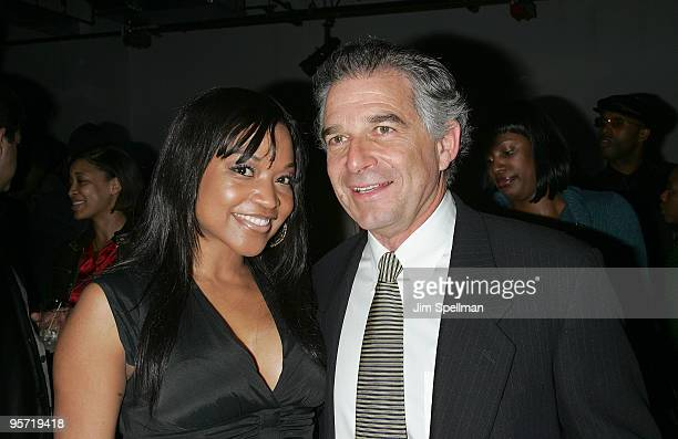Actress Monyetta Shaw and Producer Charles Castaldi attend the after party for the premiere of Soul Men at the Hip Hop Center of Harlem on October 28...