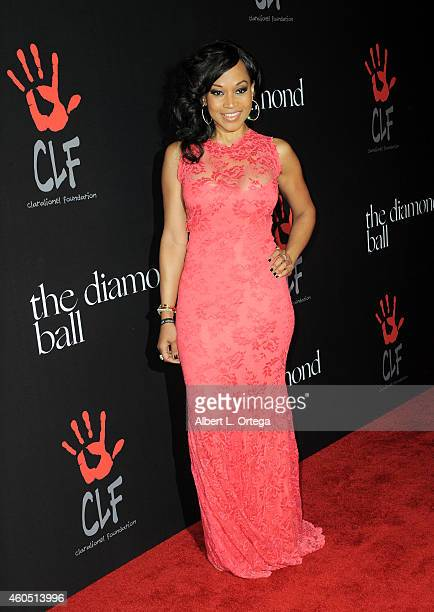 Actress Monyetta Shaw at Rihanna's 1st Annual Diamond Ball Benefitting The Clara Lionel Foundation held at The Vineyard on December 11, 2014 in...