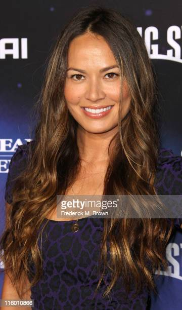 """Actress Moon Bloodgood attends the Premiere of TNT and Dreamworks' """"Falling Skies"""" at the Pacific Design Center Silver Screen Theater on June 13,..."""