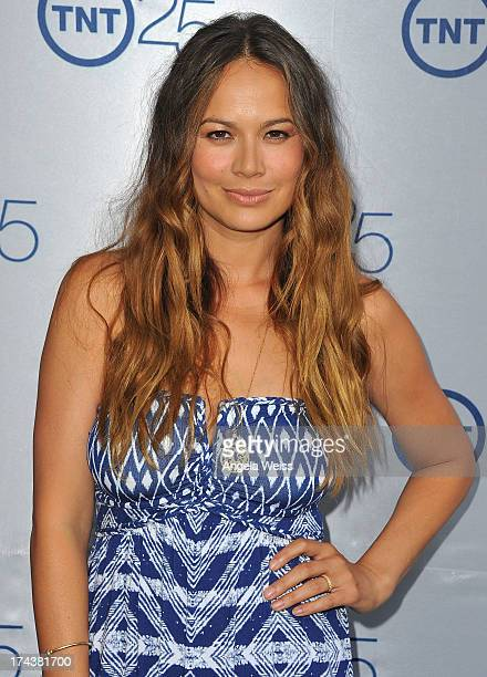 Actress Moon Bloodgood attends TNT 25th Anniversary Party at The Beverly Hilton Hotel on July 24 2013 in Beverly Hills California