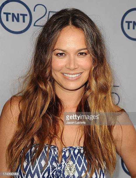 Actress Moon Bloodgood attends TNT's 25th anniversary party at The Beverly Hilton Hotel on July 24 2013 in Beverly Hills California