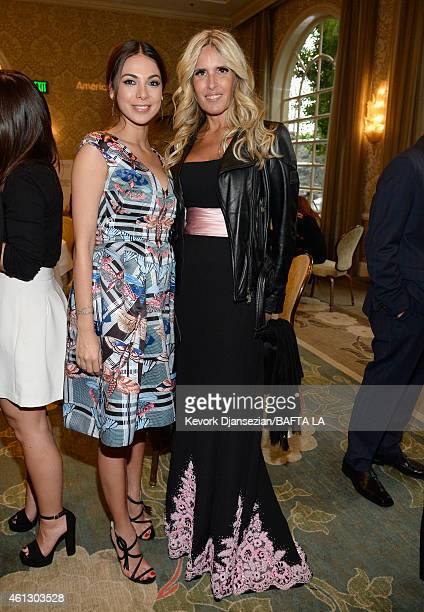 Actress Moran Atias and actress Tiziana Rocca attend the BAFTA Los Angeles Tea Party at The Four Seasons Hotel Los Angeles At Beverly Hills on...
