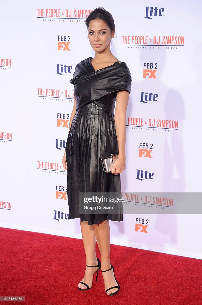 Actress Moran Atias arrives at the premiere of 'FX's 'American Crime Story - The People V. O.J. Simpson' at Westwood Village Theatre on January 27, 2016 in Westwood, California.