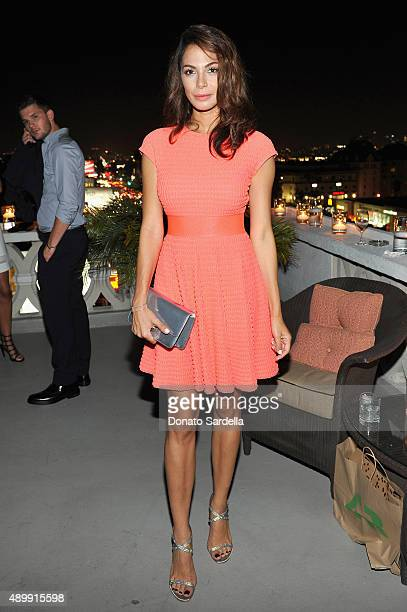 Actress Moran Atias attends a cocktail event hosted by Dior Homme's Kris Van Assche at Chateau Marmont on September 24 2015 in Los Angeles California