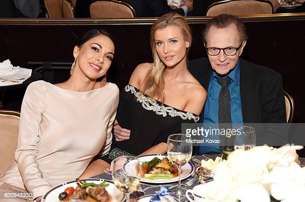 Actress Moran Atias model Joanna Krupa and TV personality Larry King attend Friends Of The Israel Defense Forces Western Region Gala at The Beverly...