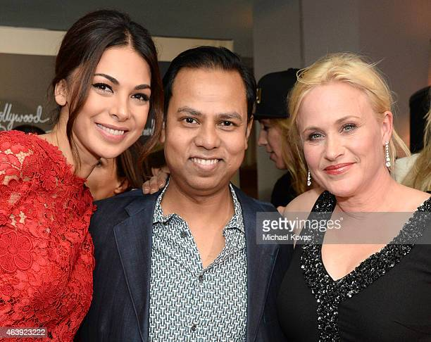 Actress Moran Atias, Munawar Hosain, and actress Patricia Arquette attend the 8th annual Hollywood Domino Gala presented by BOVET 1822 benefiting...