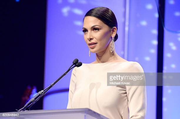 Actress Moran Atias speaks onstage during the Friends Of The Israel Defense Forces Western Region Gala at The Beverly Hilton Hotel on November 3 2016...