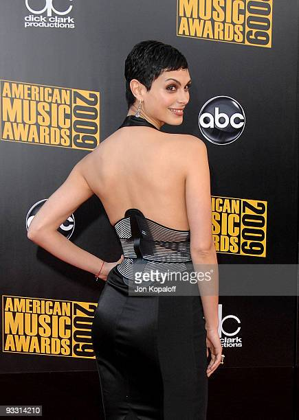 Actress Morena Baccarin arrives at the 2009 American Music Awards at Nokia Theatre LA Live on November 22 2009 in Los Angeles California
