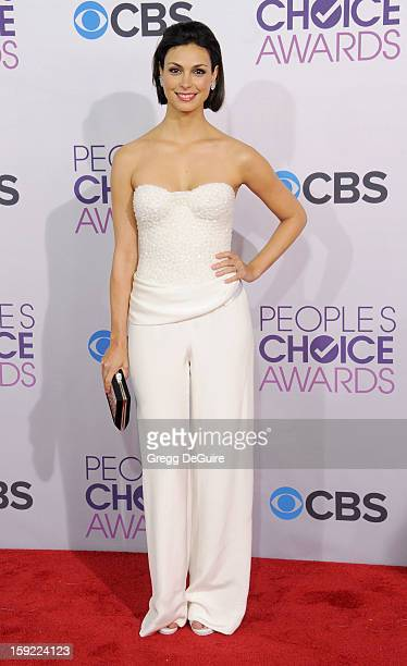 Actress Morena Baccarin arrives at the 2013 People's Choice Awards at Nokia Theatre LA Live on January 9 2013 in Los Angeles California