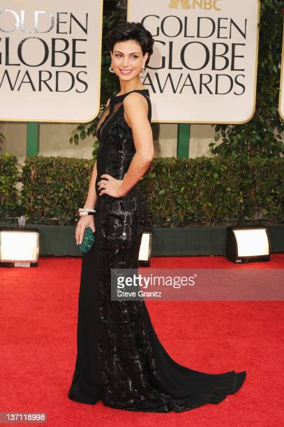 Actress Morena Baccarin arrives at the 69th Annual Golden Globe Awards held at the Beverly Hilton Hotel on January 15 2012 in Beverly Hills California