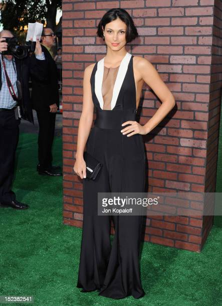 Actress Morena Baccarin arrives at the Los Angeles Premiere 'Trouble With The Curve' at Mann's Village Theatre on September 19 2012 in Westwood...