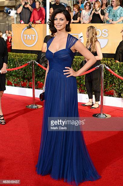 Actress Morena Baccarin attends 20th Annual Screen Actors Guild Awards at The Shrine Auditorium on January 18 2014 in Los Angeles California