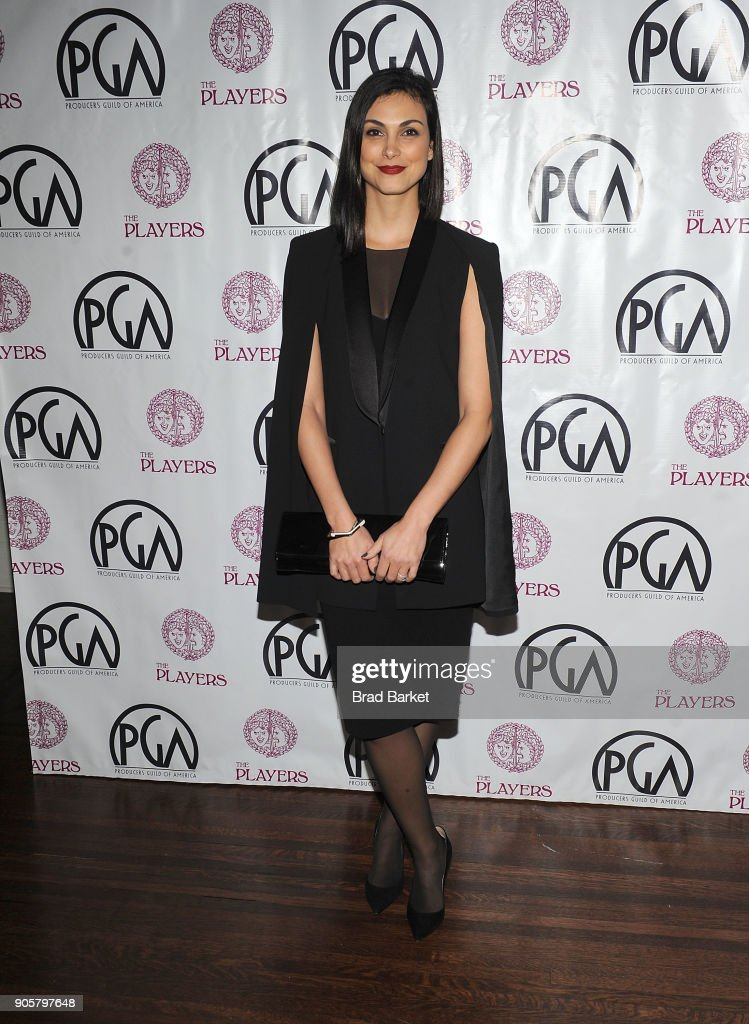 Actress Morena Baccarin attends the 2018 Producers Guild Award Nominees New York Celebration at The Players Club on January 16, 2018 in New York City.