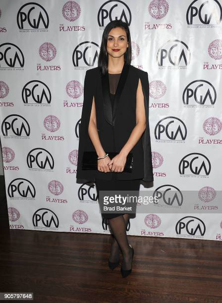 Actress Morena Baccarin attends the 2018 Producers Guild Award Nominees New York Celebration at The Players Club on January 16 2018 in New York City