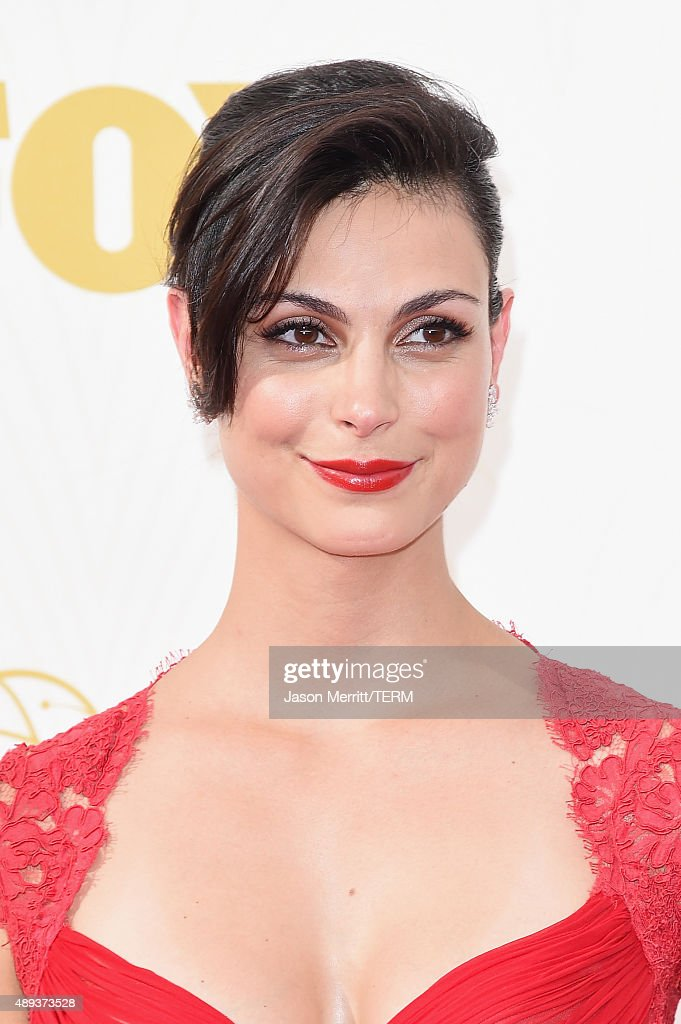 Actress Morena Baccarin attends the 67th Annual Primetime Emmy Awards at Microsoft Theater on September 20, 2015 in Los Angeles, California.