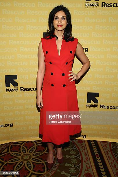 Actress Morena Baccarin attends the Annual Freedom Award Benefit hosted by the International Rescue Committee at the Waldorf Astoria Hotel on...