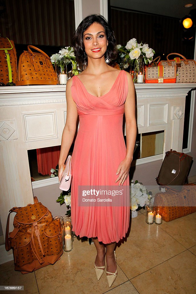 Actress Morena Baccarin attends the Dukes of Melrose launch hosted by Decades, Harper's BAZAAR, and MCM on February 28, 2013 in Los Angeles, California.