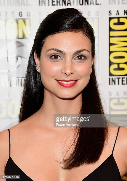 """Actress Morena Baccarin attends the """"Gotham"""" press line during Comic-Con International 2016 at Hilton Bayfront on July 23, 2016 in San Diego,..."""