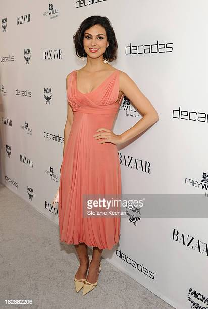 Actress Morena Baccarin attends the Harper's BAZAAR celebration of the launch of Bravo TV's The Dukes of Melrose starring Cameron Silver and Christos...