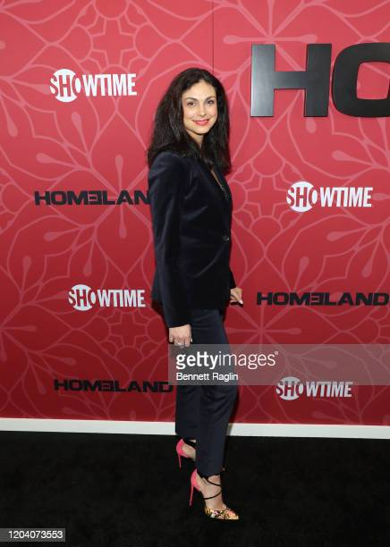 Actress Morena Baccarin attends the Homeland Season 8 premiere at Museum of Modern Art on February 04 2020 in New York City
