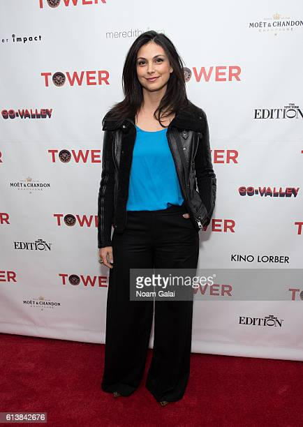 Actress Morena Baccarin attends the 'Tower' New York premiere at The New York Edition on October 10 2016 in New York City
