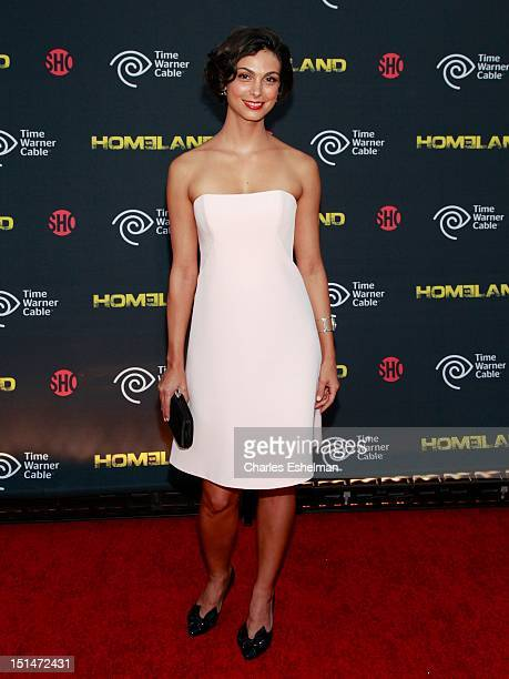 Actress Morena Baccarin attends Time Warner Cable And Showtime Screening Of Homeland Season 2 at Intrepid SeaAirSpace Museum on September 7 2012 in...