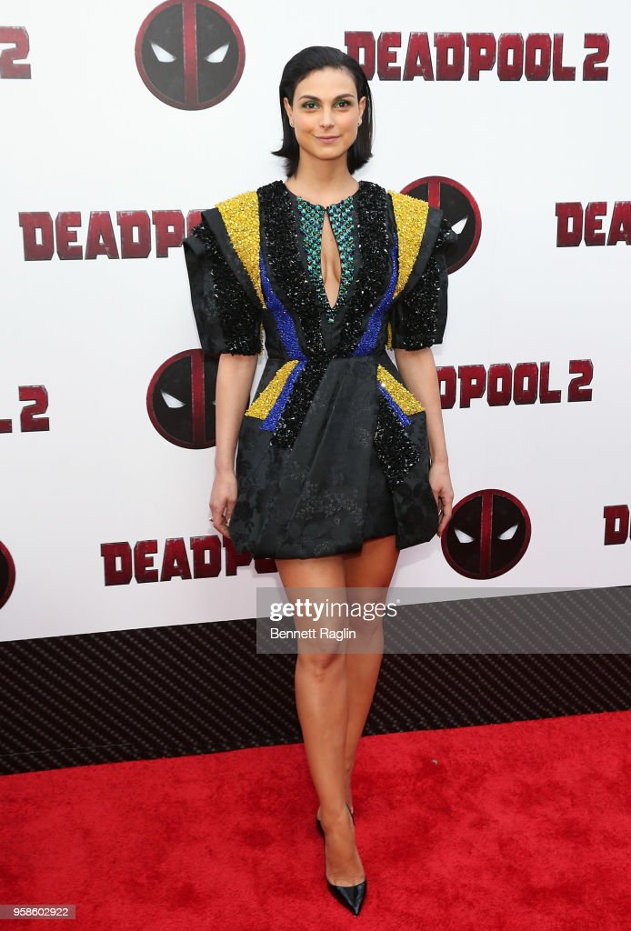 Actress Morena Baccarin poses for a picture during the 'Deadpool 2' New York Screening at AMC Loews Lincoln Square on May 14, 2018 in New York City.