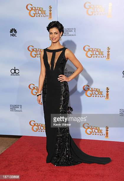 Actress Morena Baccarin poses in the press room at the 69th Annual Golden Globe Awards held at the Beverly Hilton Hotel on January 15 2012 in Beverly...
