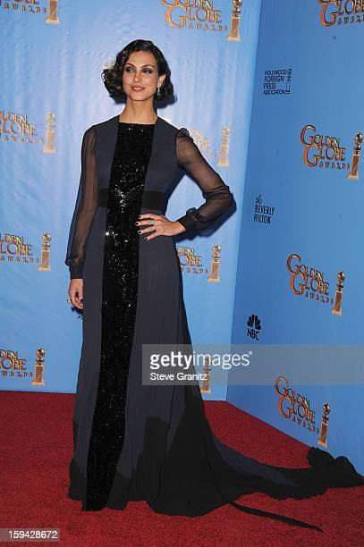 Actress Morena Baccarin poses in the press room at the 70th Annual Golden Globe Awards held at The Beverly Hilton Hotel on January 13 2013 in Beverly...