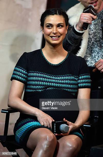 Actress Morena Baccarin visits AOL Build Speaker Series to discuss her new film 'Deadpool' at AOL Studios In New York on February 9 2016 in New York...