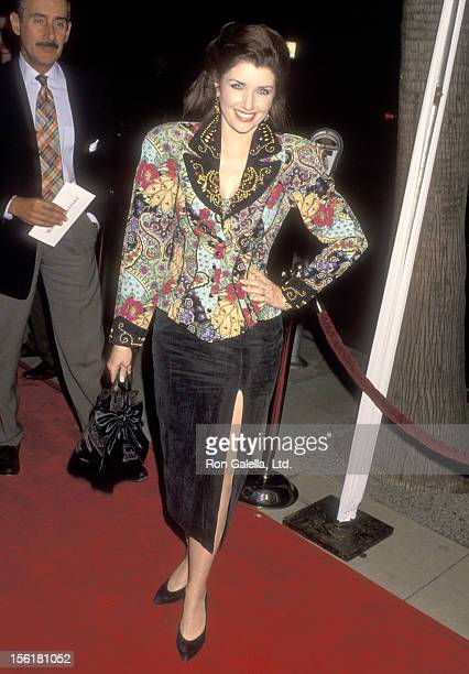 Actress Morgan Brittany attends the 'Mrs Doubtfire' Beverly Hills Premiere on November 22 1993 at Academy Theatre in Beverly Hills California