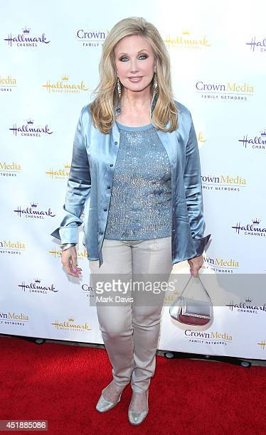 Actress Morgan Fairchild attends the Hallmark Channel Hallmark Movie Channel's 2014 Summer TCA Party on July 8 2014 in Beverly Hills California