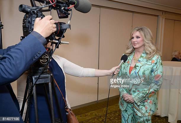 Actress Morgan Fairchild attends the Ralph Morgan Award Reception at the SAGAFTRA Los Angeles Local's Membership luncheon meeting at Sportsmen's...