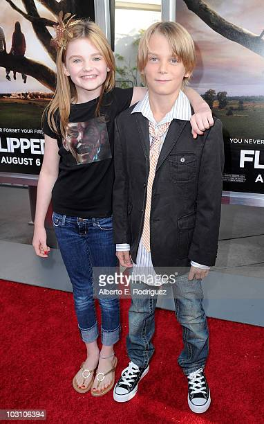 Actress Morgan Lily and actor Ryan Ketzner arrive to the premiere of Warner Bros's Flipped on July 26 2010 in Hollywood California
