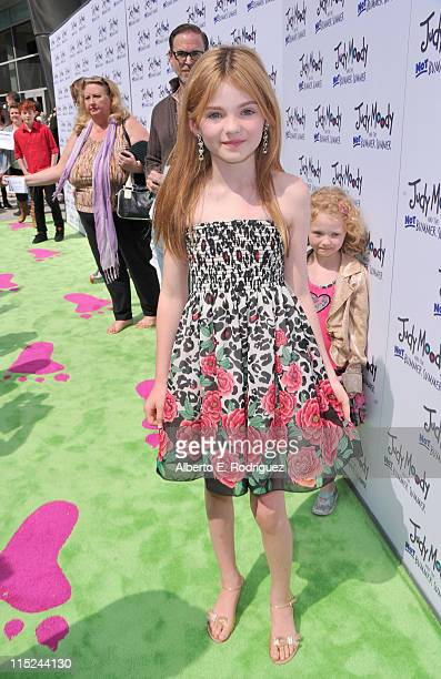 Actress Morgan Lily arrives at the premiere of Relativity Media's Judy Moody And The NOT Bummer Summer held at ArcLight Hollywood on June 4 2011 in...