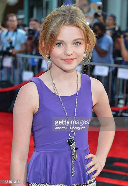 Actress Morgan Lily arrives to the Los Angeles premiere of Summit Entertainment's Step Up Revolution at Grauman's Chinese Theatre on July 17 2012 in...