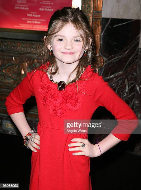 Actress Morgan Lily attends the Los Angeles premiere of Dr Seuss' 'How The Grinch Stole Christmas' at the Pantages Theatre on November 14 2009 in Los...