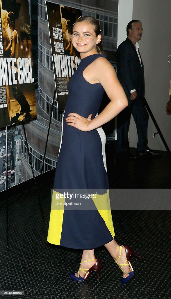 Actress Morgan Saylor attends the 'White Girl' New York premiere at Angelika Film Center on August 22, 2016 in New York City.