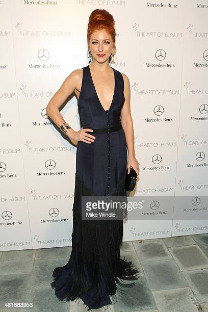 Actress Morgan Smith Goodwin attends The Art of Elysium's 7th Annual HEAVEN Gala presented by MercedesBenz at Skirball Cultural Center on January 11...