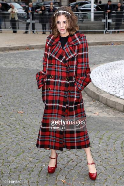 Actress Morgane Polanski arrives at the Miu Miu show as part of the Paris Fashion Week Womenswear Spring/Summer 2019 on October 2 2018 in Paris France