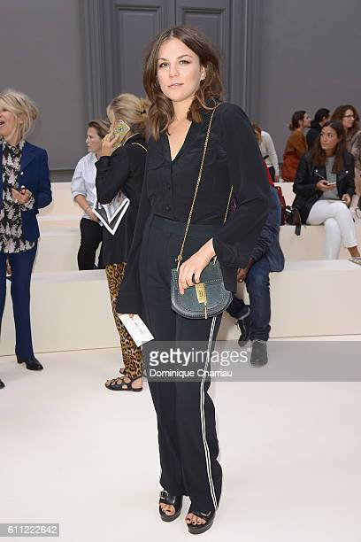 Actress Morgane Polanski attends the Chloe show as part of the Paris Fashion Week Womenswear Spring/Summer 2017 on September 29 2016 in Paris France