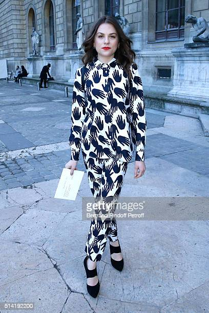 Actress Morgane Polanski attends the Sonia Rykiel show as part of the Paris Fashion Week Womenswear Fall/Winter 2016/2017 on March 7 2016 in Paris...