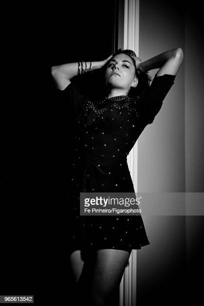 Actress Morgane Polanski is photographed for Madame Figaro on November 2 2017 in Paris France Dress by Miu Miu bangles by Christofle PUBLISHED IMAGE...