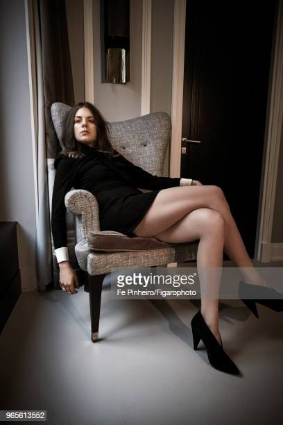 Actress Morgane Polanski is photographed for Madame Figaro on November 2 2017 in Paris France Dress by Gucci rings by Messika Paris shoes by Stella...