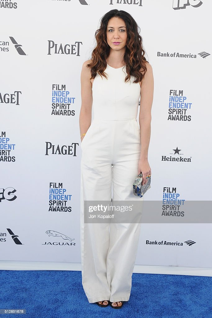 Actress Mozhan Marno arrives at the 2016 Film Independent Spirit Awards on February 27, 2016 in Los Angeles, California.