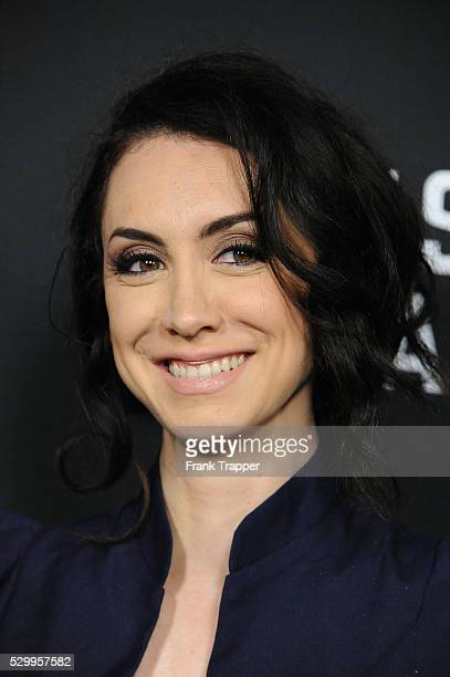 """Actress Mozhan Marno arrives at the special screening of Netflix's """"House of Cards"""" Season 2 held at the Directors Guild of America."""