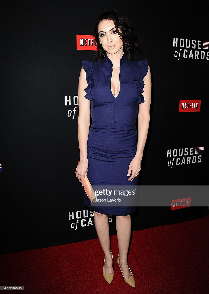 Actress Mozhan Marno attends a screening of 'House Of Cards' at Directors Guild Of America on February 13, 2014 in Los Angeles, California.