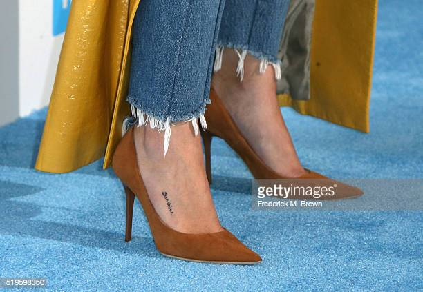 Actress multiplatinum recording artist and UNICEF Goodwill Ambassador Selena Gomez shoe detail walks the WE Carpet at WE Day California 2016 at The...