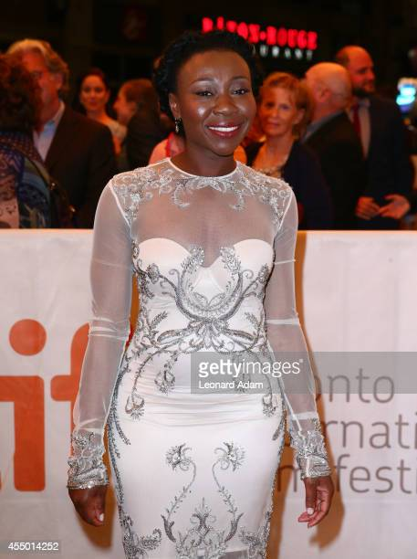 Actress Muna Otaru attends The Keeping Room premiere during the 2014 Toronto International Film Festival at The Elgin on September 8 2014 in Toronto...